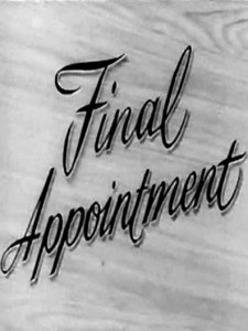 Final Appointment